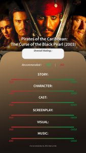 Pirates of The Caribbean The Curse of The Black Pearl Instagram Story Movie Template