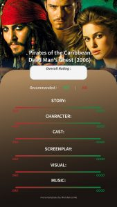Pirates of The Caribbean Dead Man's Chest Instagram Story Movie Template