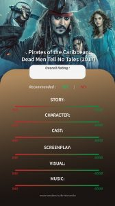 Pirates of The Caribbean Dead Men Tell No Tales Instagram Story Movie Template