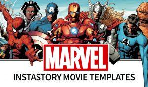 Instastory Movie Templates - Marvel