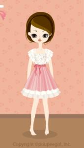 Drape sleeved dress / wh10BJ
