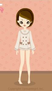 Chocolate sailor coat / bg10CJ