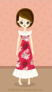 Muumuu long dress / Rd09G