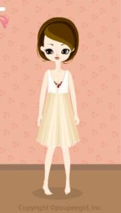 Chiffon dress / yw10D