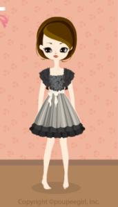 Drape sleeved dress / bk10BJ