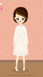 Chocolat classical dress / wh10C