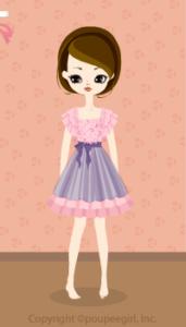 Drape sleeved dress / pk10BJ