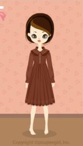 Chocolat classical dress / br10C