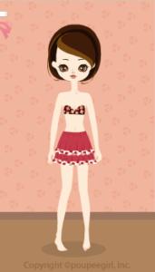 Flower frill skirt / rd10CJ