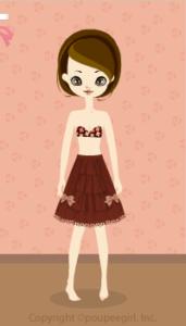 Chocolate Ribbon Skirt / br10CJ