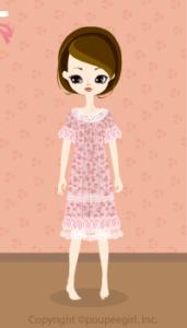 Flower lace dress / pk10DJ