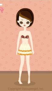 Flower frill skirt / yw10CJ