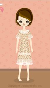Flower lace dress / bg10DJ
