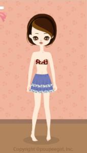 Flower frill skirt / bl10CJ