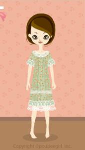 Flower lace dress / gn10DJ