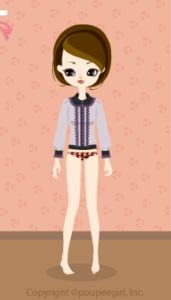 Frilled blouse / pr09IJ