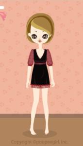 Chiffon sleeve dress / bk09I