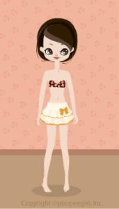 Dot frill skirt / yw09C