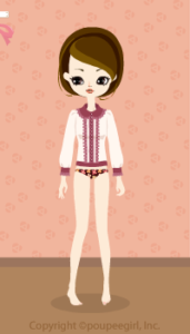 Frilled blouse / pk09IJ