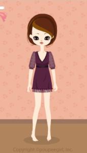 Chiffon sleeve dress / pr09I