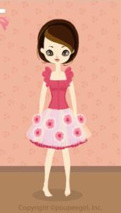 Chiffon volume dress / pk10B
