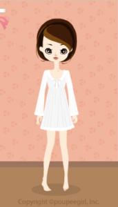 Lace dot dress / wh10C