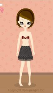 Heart balloon skirt / gr09IJ