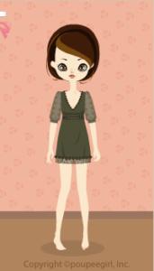 Chiffon sleeve dress / kh09I