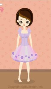 Chiffon volume dress / pr10B