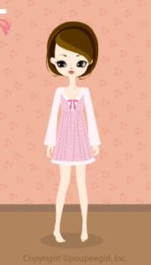 Lace dot dress / pk10C