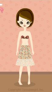 Flowery skirt / bg10D