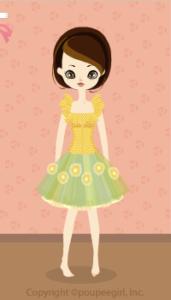 Chiffon volume dress / yw10B