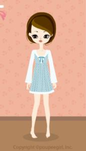 Lace dot dress / bl10C