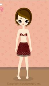Heart balloon skirt / rd09IJ