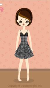 Gingham check dress / bk10B