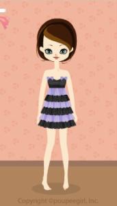Shiny border dress / pr09K