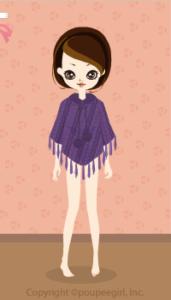 Knit poncho / pr09L
