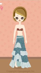 Ethnic skirt / gn10CJ