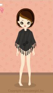 Knit poncho / bk09L