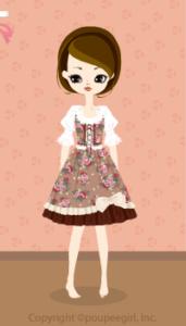 Flower dress / br10BJ