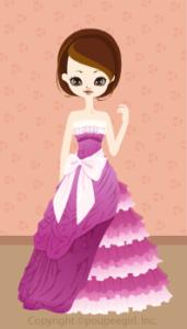 Happy June Bride 2009 - A line ribbon dress / 09F