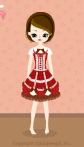 Strawberry chocolate dress / rd10BJ