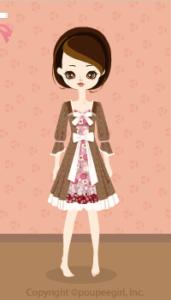 Layered flower dress / br10B
