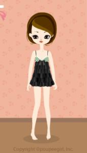 Dot Mini Dress / Bk10BJ