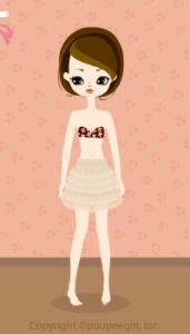 Lace mini skirt / pk10C