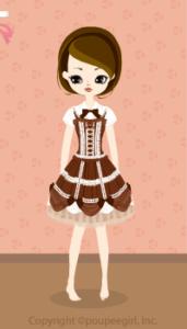 Chocolate dress / 10BJ