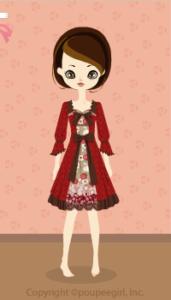Layered flower dress / rd10B
