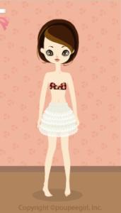 Lace mini skirt / wh10C