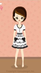 Heart note dress / wh09J