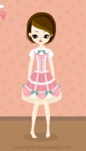 Strawberry mousse dress / 10BJ